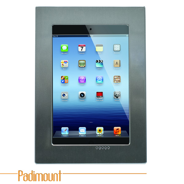 Padimount In-Wall Bracket for iPad with Power Extender (Stainles